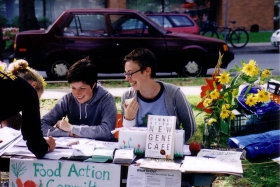 Food Action Committee volunteers at the Harvest Festival
