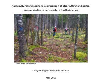 The cover of one of two reports recently released by our forestry program